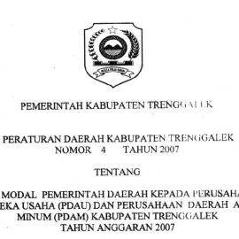 [Update] Peraturan Daerah No 4 Tahun 2007