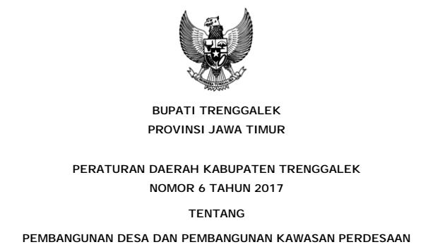 [Update] Peraturan Daerah No 6 Tahun 2017